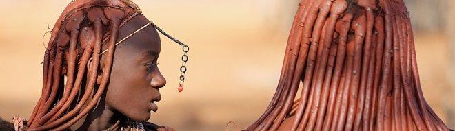 Penteado tradicional das Himbas