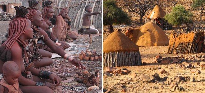 tribo e aldeia himba